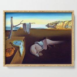 Salvador Dali The Persistence of Memory 1931 Artwork, Wall Art, Prints, Posters, Tshirts, Men, Women Serving Tray