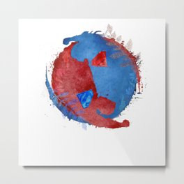 supervalor yinyang v2 Metal Print