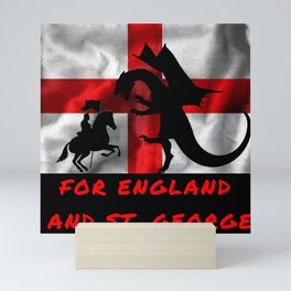 For England And St George Mini Art Print