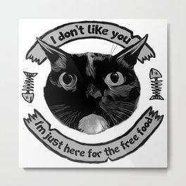 I don't like you... Metal Print