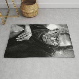 Eric Clapton PENCIL DRAWING Rug