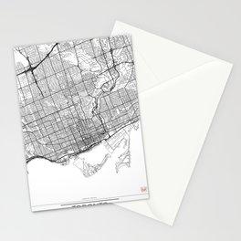 Toronto Map White Stationery Cards