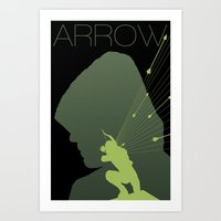 green arrow Art Prints featuring Arrow by Frank DeAngelo