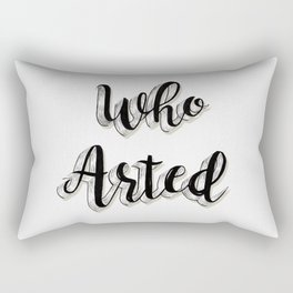 Who Arted - Black Ink Palette Rectangular Pillow