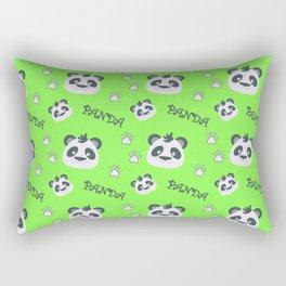 Panda's footprint on green Rectangular Pillow