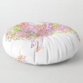 Pink Pomeranian Floor Pillow