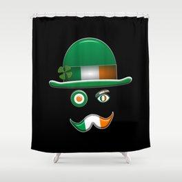Irish Flag Face. Shower Curtain