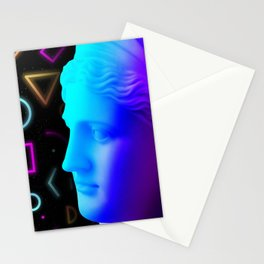 Ancient neon gods #4: Ceres/Demeter Stationery Cards
