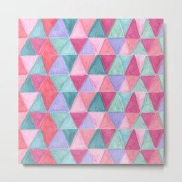 pastel triangle pattern Metal Print