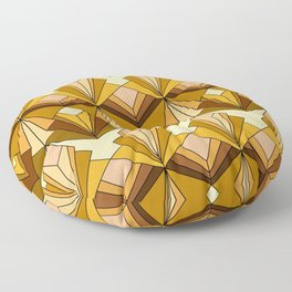 Art Deco meets the 70s Floor Pillow