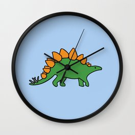 Cute Stegosaurus Wall Clock