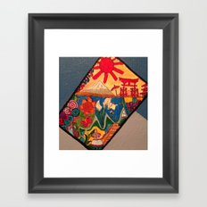 Foreign doodles Framed Art Print