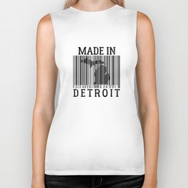 MADE IN DETROIT Bar Code Biker Tank