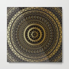 Vector vintage background. Mandala. Indian decorative pattern. Metal Print