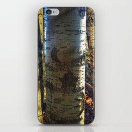 Tree Carvings iPhone Skin