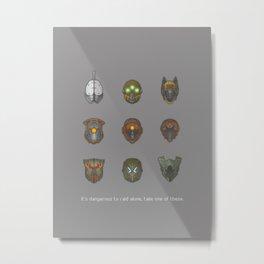 It's Dangerous to Raid Alone… Metal Print