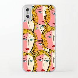 Comics Pop Girl Pattern Clear iPhone Case