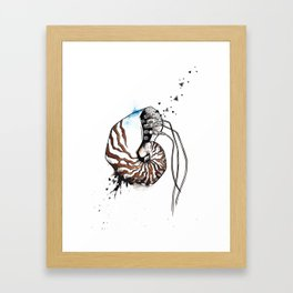 Nautilus with wires Framed Art Print