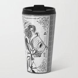 Legend of Zelda Shiek Princess Zelda Geek Line Art Travel Mug