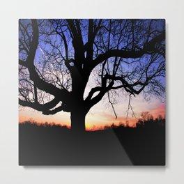 Darkness Against Sunset Metal Print