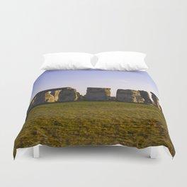 Evening at Stonehenge Duvet Cover