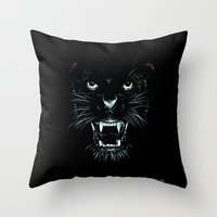 beast Throw Pillows featuring Beast by Giuseppe Cristiano