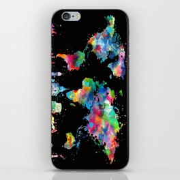 world map city skyline 3 iPhone Skin