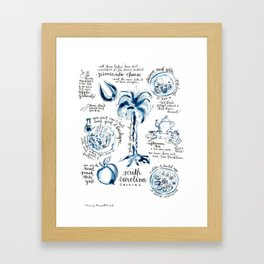 SC Cuisine Blue-and-White Framed Art Print