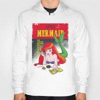 pulp Hoodies featuring Pulp Mermaid by Pinfloi