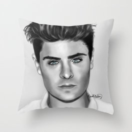 Zan Efron with Blue eyes Throw Pillow