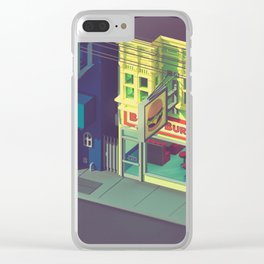 Beefiest burgers in town Clear iPhone Case