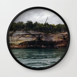 Pictured Rocks I Wall Clock
