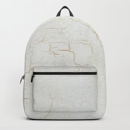 White Crackle Paint on Gold Pattern Backpack