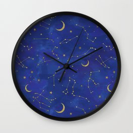 Gold Starlight Wall Clock