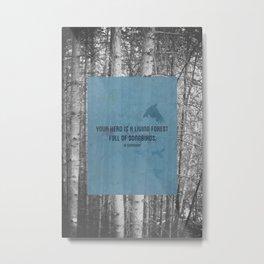ee cummings - songbirds. Metal Print