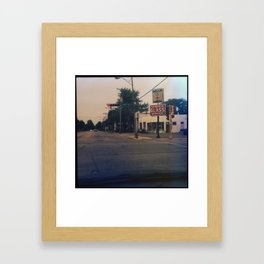 Kenosha Glass Framed Art Print