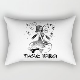NOT YOUR BASIC WITCH - inktober Rectangular Pillow