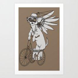 Steam Punk Chihuahua Art Print