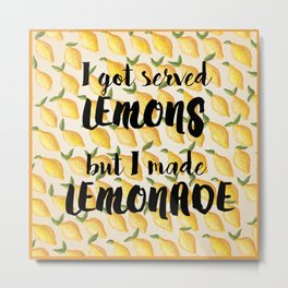 Lemonade Metal Print