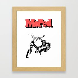 Moped Framed Art Print