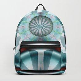 Pinwheel Hubcap in Aqua Backpack