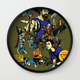 Invasion of the Masters! Wall Clock