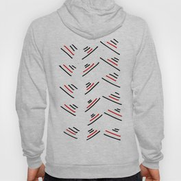 red Strips Hoody
