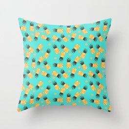 Tropical Pineapple Summer Pattern Throw Pillow
