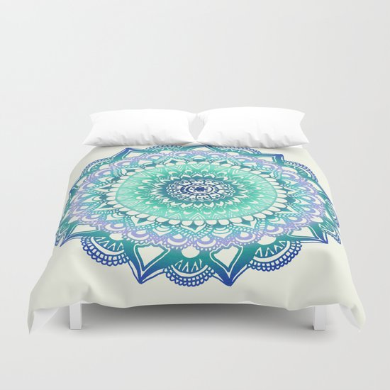 Deep Forest Flower Duvet Cover
