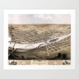Cedar Rapids - Iowa - 1868 Art Print