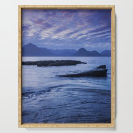 Sunset Over the Cuillin III Serving Tray