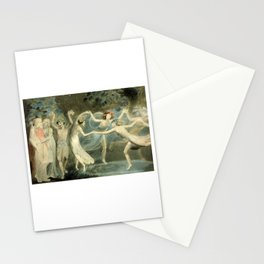 Oberon, Titania and Puck with Fairies Dancing - William Blake Stationery Cards