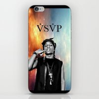 asap rocky iPhone & iPod Skins featuring Asap Rocky V.S.V.P by Christopher Leonetti