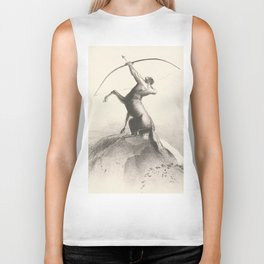 "Odilon Redon ""Centaur focuses on the sky"" Biker Tank"